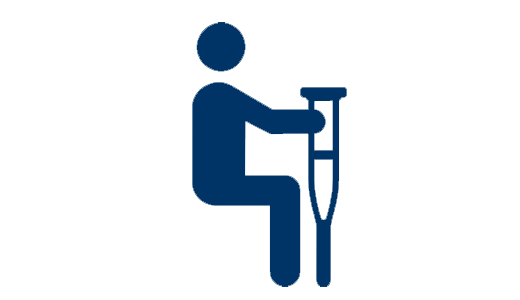 infographic - person with crutches