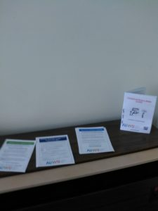 AUWU leaflets on desk at Service Tasmania office