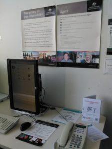 AUWU leaflets on desk at Service Tasmania office