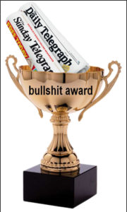 AUWU bullshit award daily telegraph, newspaper
