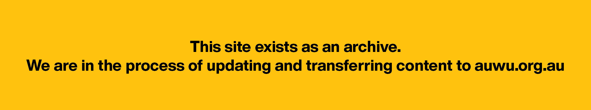The Australian Unemployed Workers' Union
